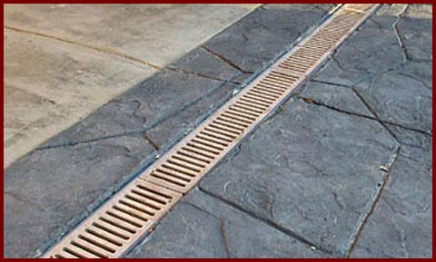 Services drain service repair installation denton for Landscape channel drain